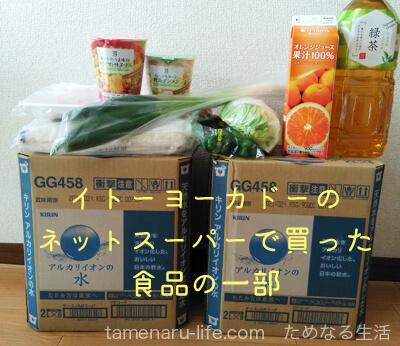 イトーヨーカドーのネットスーパーで買った食べ物